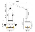 Alambique Polivalente 10 litros COMPLETO GAS