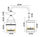 Alambique Hidráulico 10 litros + Termómetro + Alcoholímetro