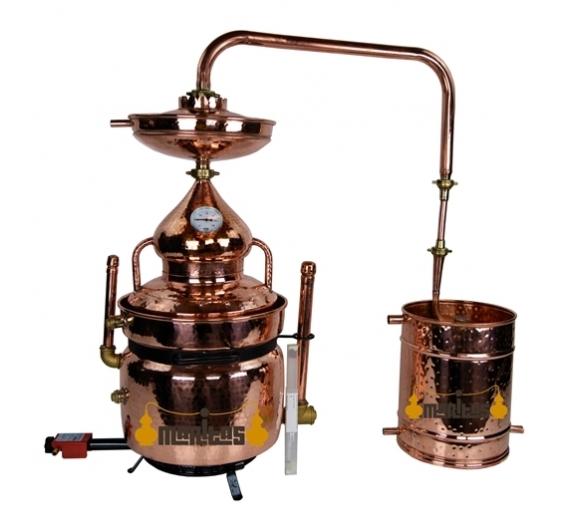 Alambique Baño María 10 litros + Termómetro + Alcoholímetro