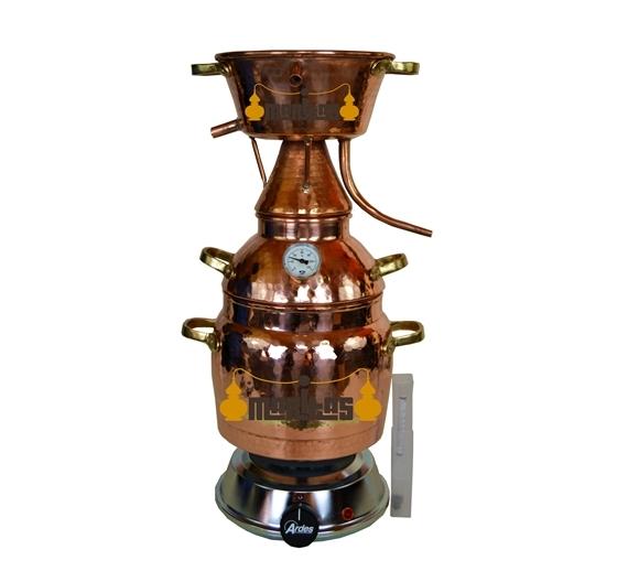 Alquitara Al Vapor 1 litro COMPLETA ELECTRICA