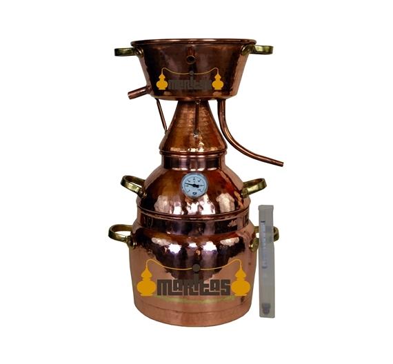 Alquitara Al Vapor 1 litro + Termómetro + Alcoholímetro