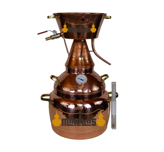 Alquitara Al Vapor 5 litro + Termómetro + Alcoholímetro