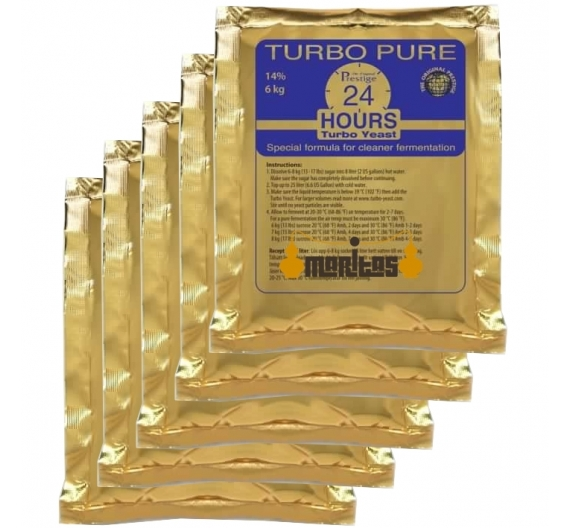 Pack 5 Sobres de Levadura Turbo 8