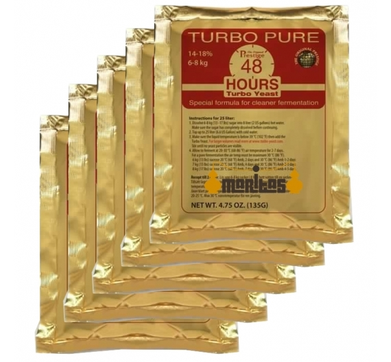 Pack 5 Sobres de Levadura Turbo Pure