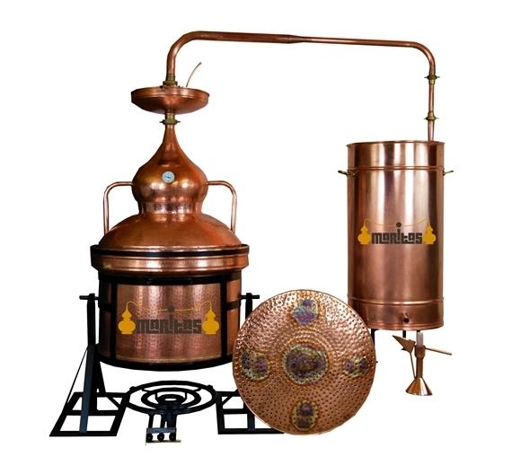 Alambique Hidráulico 100 litros + Termómetro + Alcoholímetro LÍQUIDOS