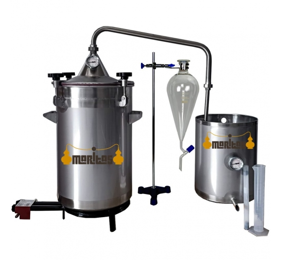 Alambique Inox 50 litros completo