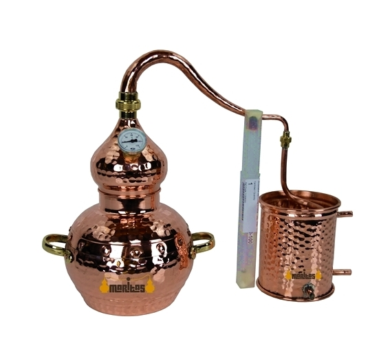 Alambique Clásico 1.5 litros + Termómetro + Alcoholímetro