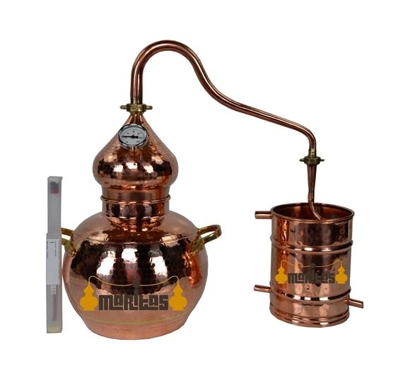 Alambique Clásico 5 litros + Termómetro + Alcoholímetro