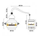 Alambique Clásico 10 litros + Termómetro + Alcoholímetro