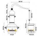 Alambique Polivalente 5 litros COMPLETO ELÉCTRICO
